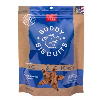 Cloud Star Buddy Biscuits Soft & Chewy Bacon & Cheese Dog Treats 20oz