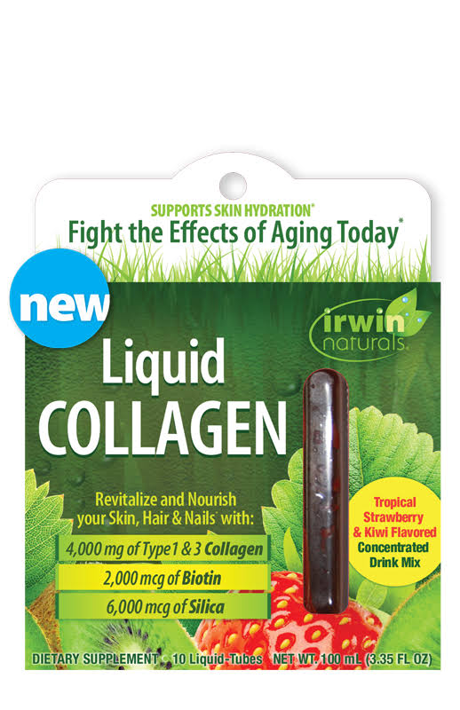 Irwin Naturals - Liquid Collagen - 10 Liquid-Tubes