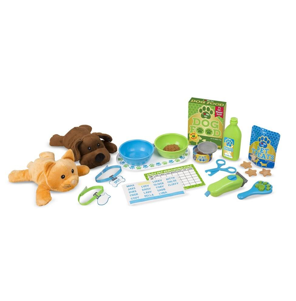 Melissa & Doug - Feeding & Grooming Pet Care Play Set