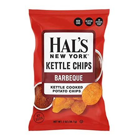 Hal's New York Seltzer Barbeque Kettle Cooked Potato Chips