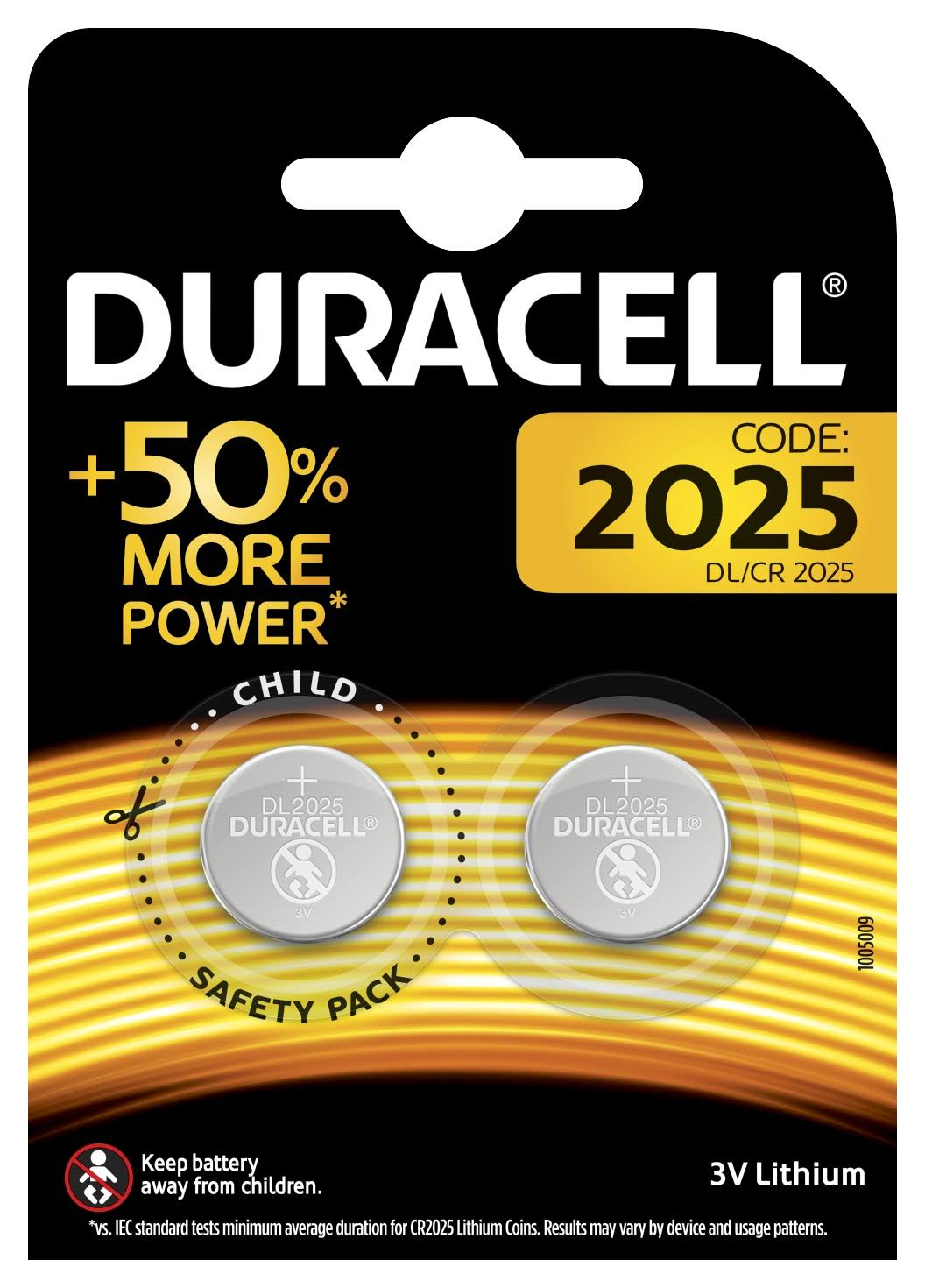 Duracell Specialty 2025 Lithium Coin Battery - 3V, 2pk