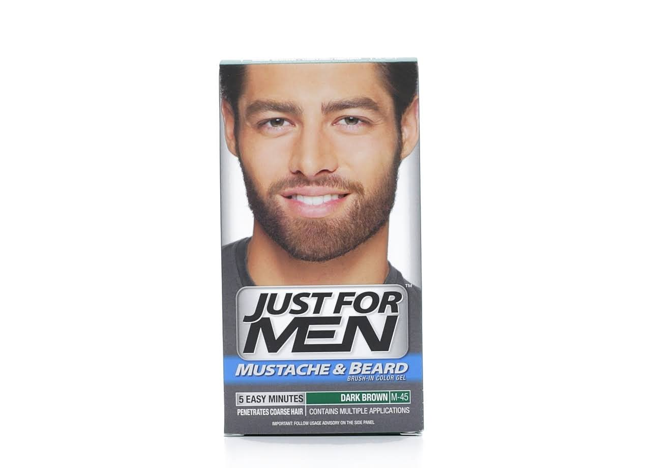 Just for Men Mustache and Beard Brushin Color Gel - Dark Brown, 0.5oz