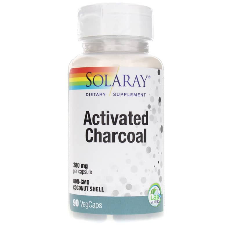 Solaray Activated Charcoal - 280mg, 90 Capsules