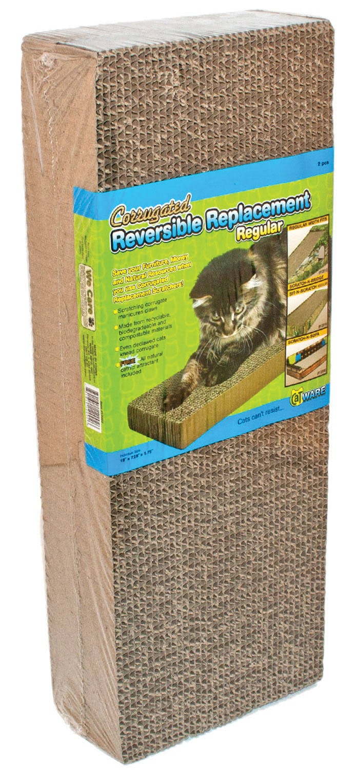 Ware ManufaCounturing Corrugated Replacement Scratcher Pads - Regular, 2 Pack