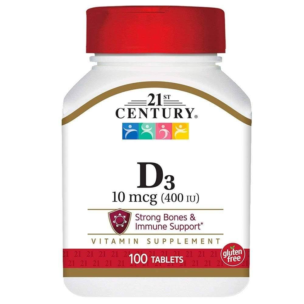 21ST Century D3-400 Dietary Supplement - 100Tabs