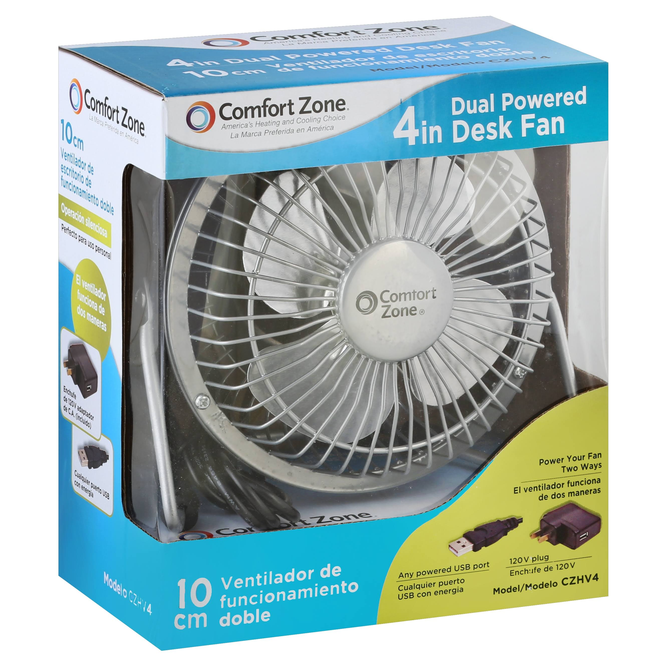 Comfort Zone Czhv4 High Velocity Table Fan - 4''