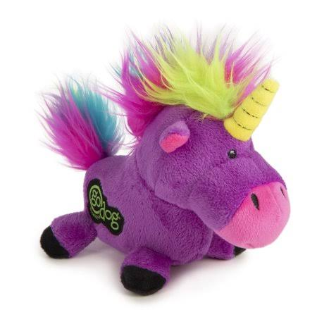 Godog Purple Unicorn Dog Toy, Small