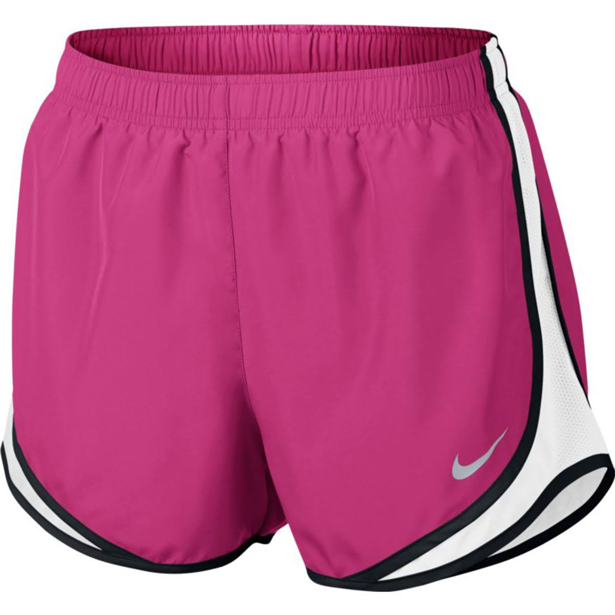 Nike Women's Dry Tempo Shorts - Pink/White/Black/Wolf Grey, Large