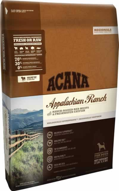 Acana Appalachian Ranch Dry Dog Food - 25lb