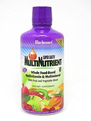 Blue Bonnet Liquid Super Earth Multinutrient Formula - Tropical Fruit