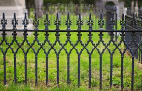 Halloween Cemetery Fence by The Iron Fence And The Family Plot The Big Séance
