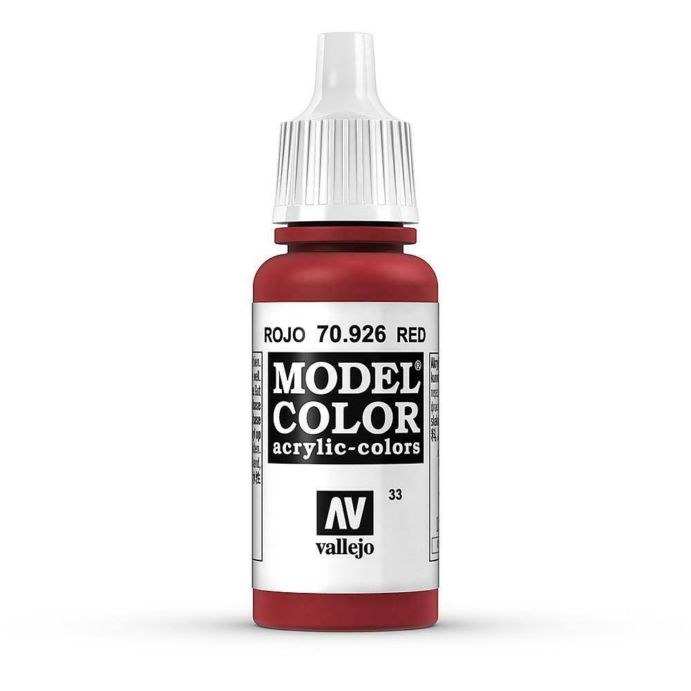 Vallejo Model Color Acrylic Paint - 17ml, Red