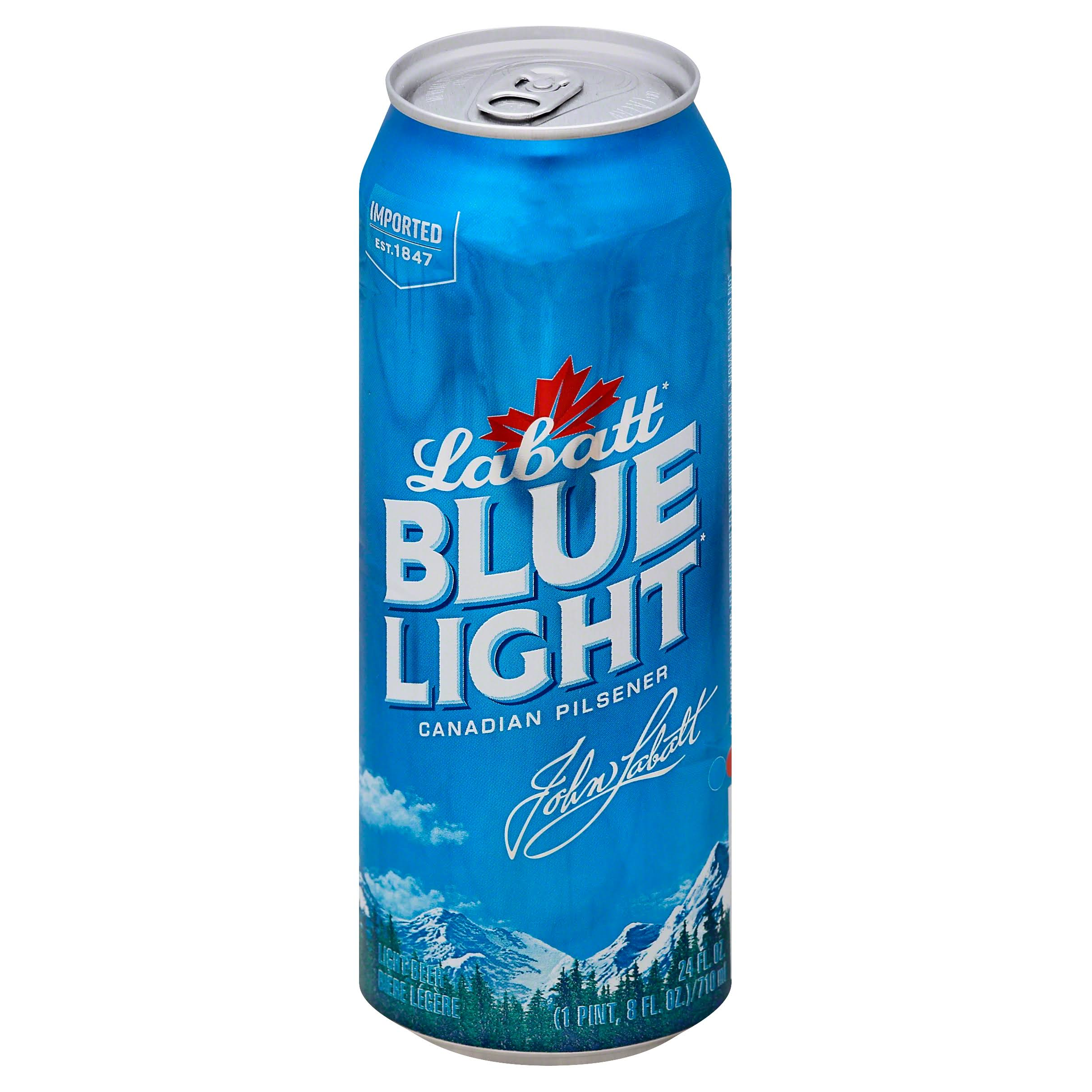 Labatt Blue Light Beer, Light, Canadian Pilsner - 24 fl oz