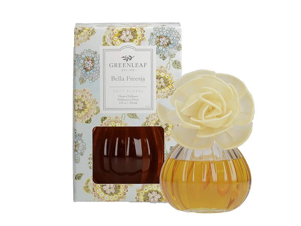 Greenleaf Flower Diffuser - Diffuses 30 Days - Made in The USA - Bella Freesia