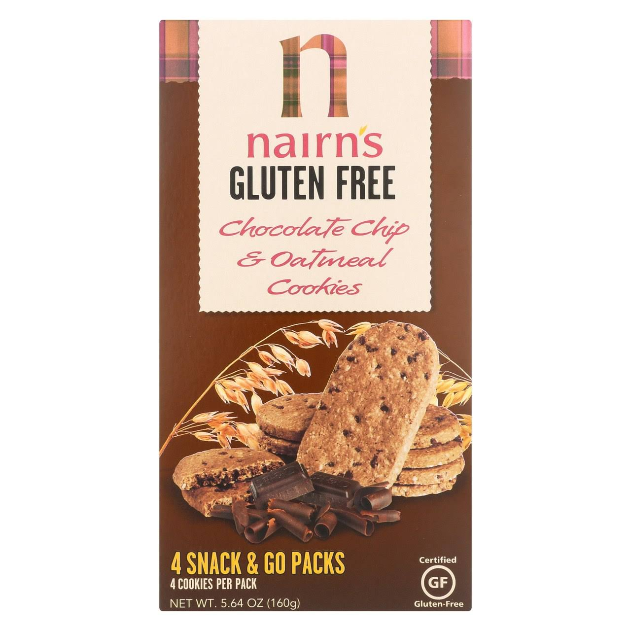 Nairns Oatmeal and Chocolate Chip Cookies - 160g