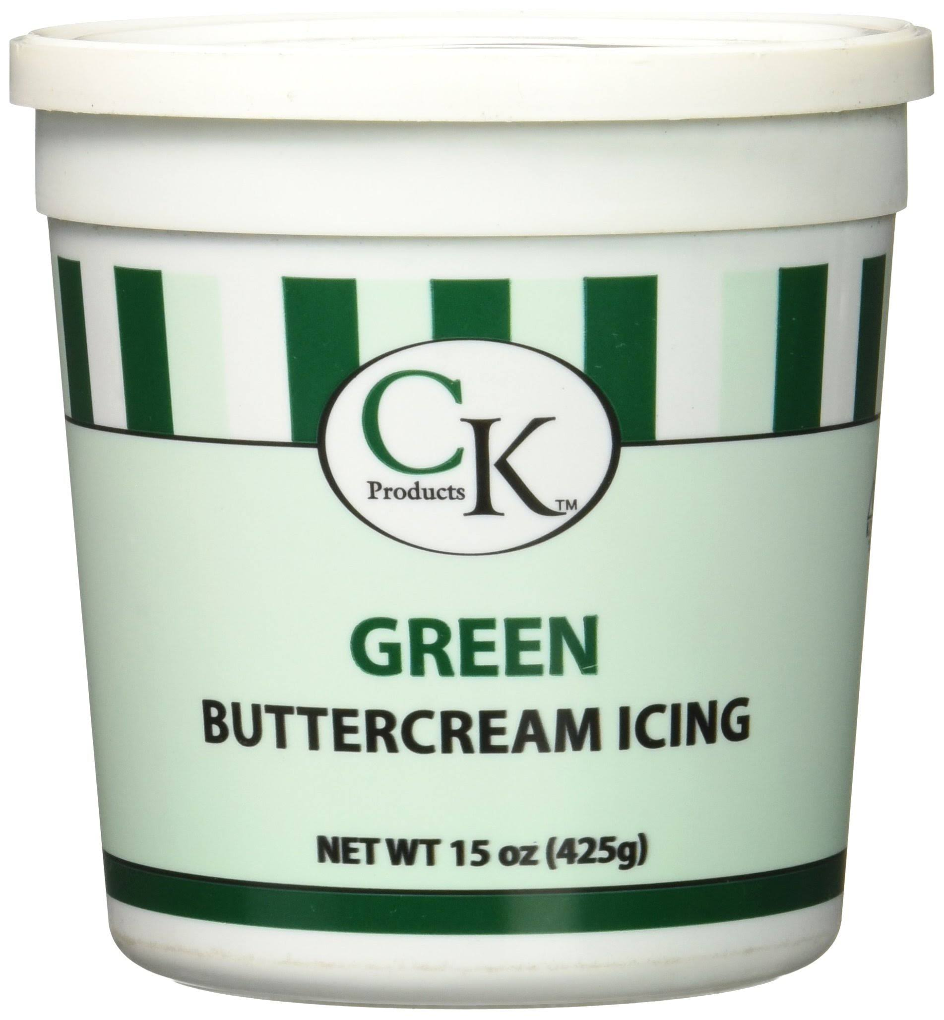 CK Products Buttercream Icing Cake Topper - Green, 15oz