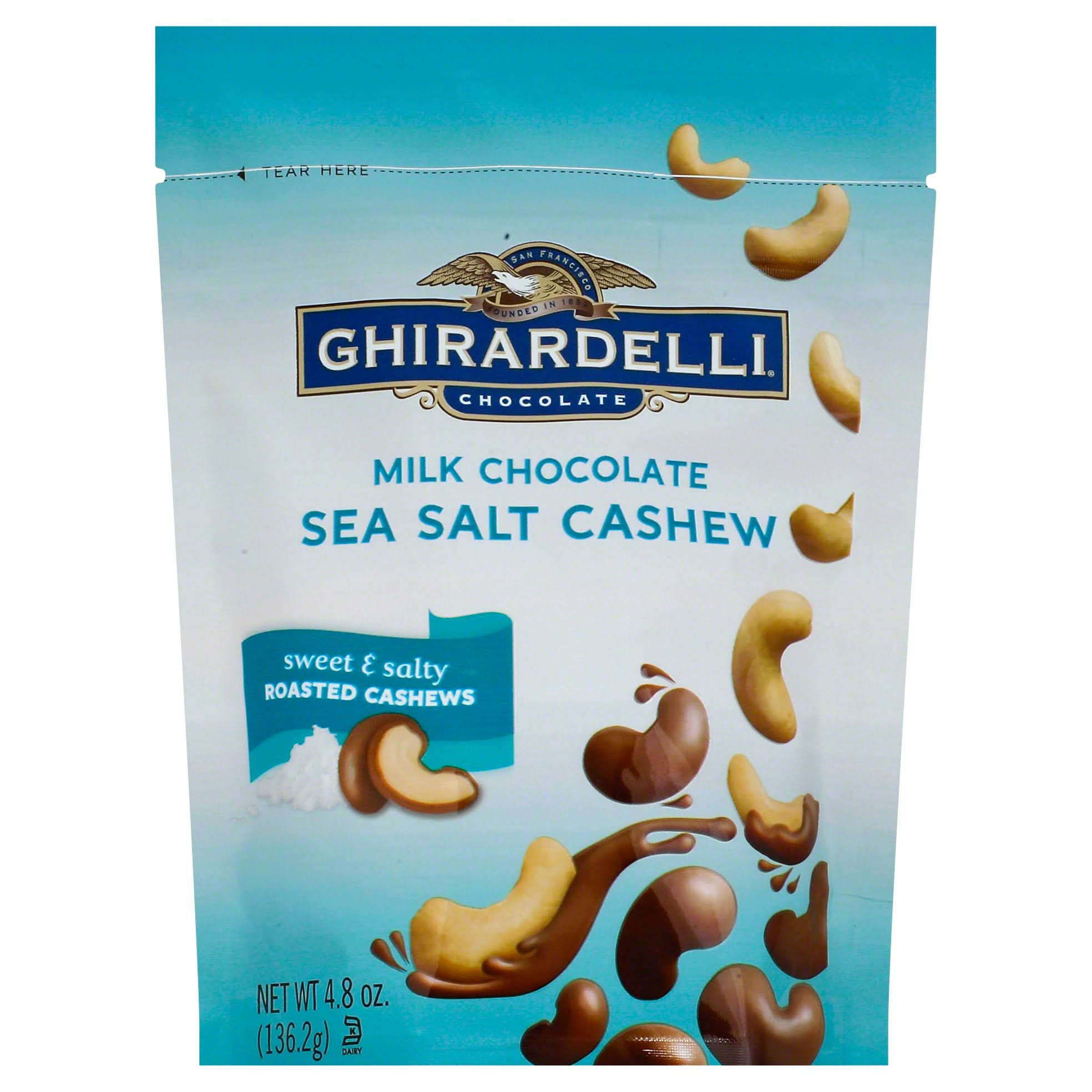 Ghirardelli Milk Chocolate - Sea Salt Cashew, 4.8oz