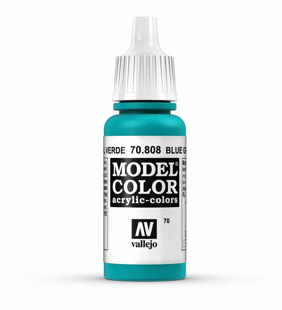 Vallejo Model Color Acrylic Paint - Blue Green, 17ml