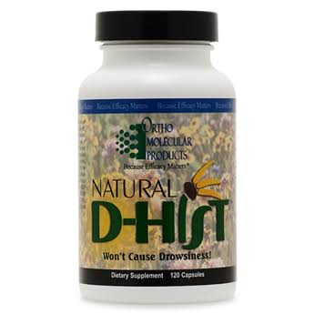 Ortho Molecular Natural D-Hist Dietary Supplement - 120 Capsules