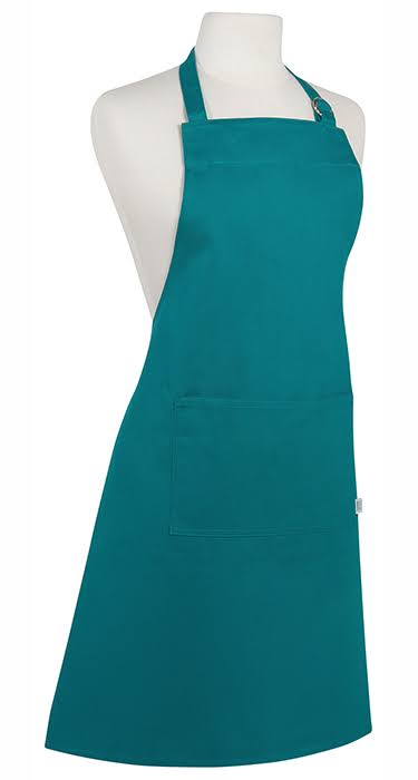 Now Designs Basic Cotton Kitchen Chef's Apron, Peacock Green
