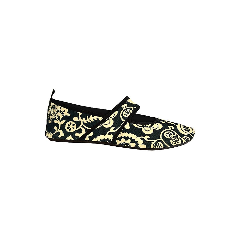 Futsole Rugged Black Flowers - Medium