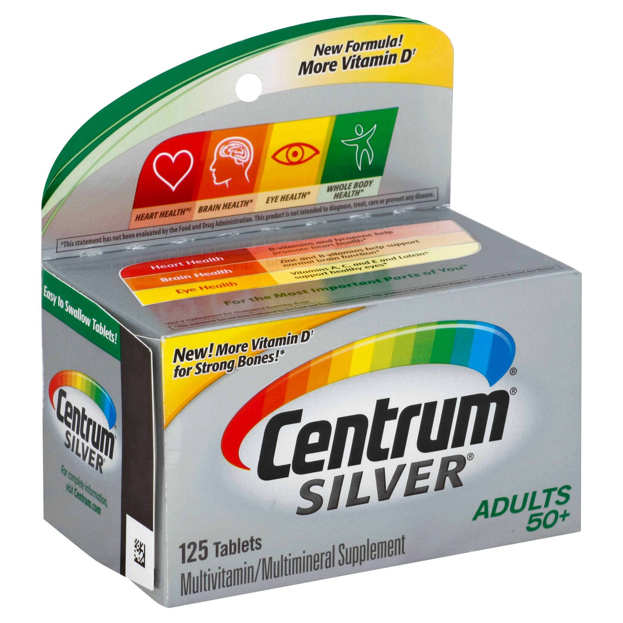 Centrum Silver Adults 50 Plus Multivitamin and Multimineral Supplement - 125 Count