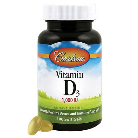Carlson Vitamin D Supplement - 1000 IU, 100 Softgels