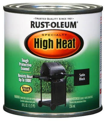 Rust-Oleum High Heat Oil Based Enamel - 1/2pt, Satin Black