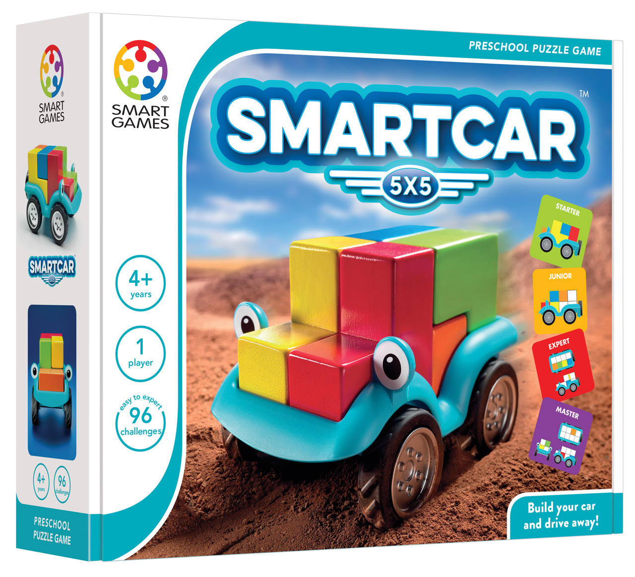 Smart Games Smart Car Preschool Puzzle Game Toy - 5 x 5