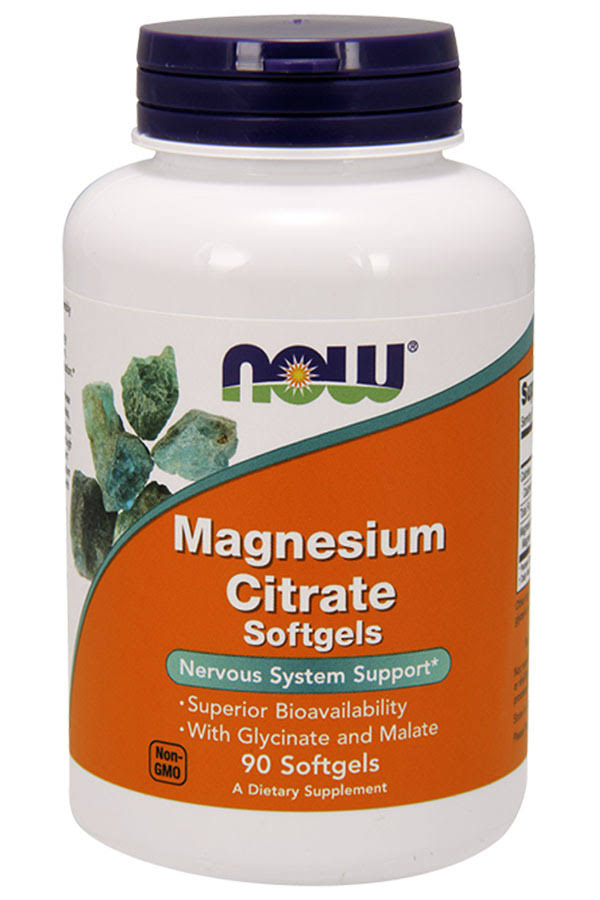Now Foods Magnesium Citrate - 90 Softgels