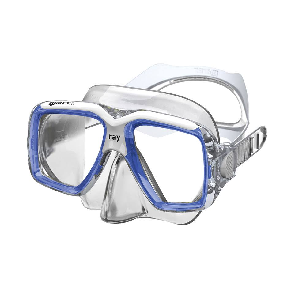 "Mares Mask Ray Diving Googles - Transparent/CL, 7.80"" x 4.50"" x 3.30"""