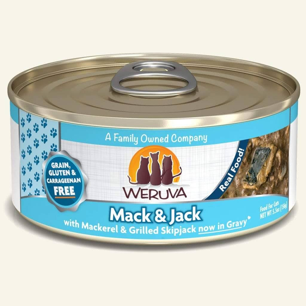 Weruva Grain Free Adult Canned Cat Food - Mack & Jack, 5.5oz