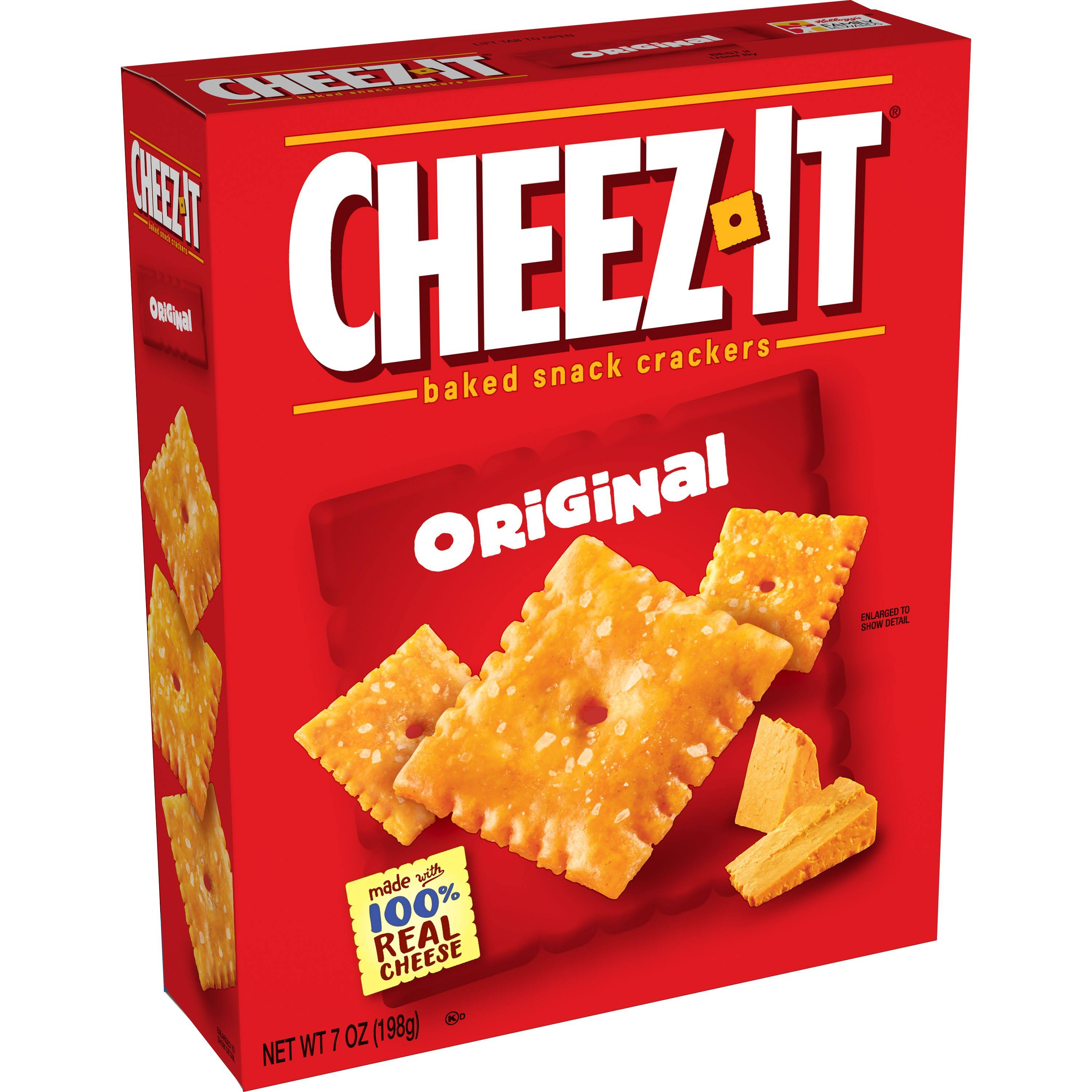 Cheez-It Baked Snack Crackers - Original, 198g
