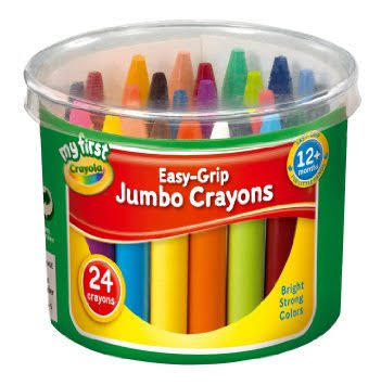 My First Crayola Easy Grip Jumbo Crayons - 24 Pack