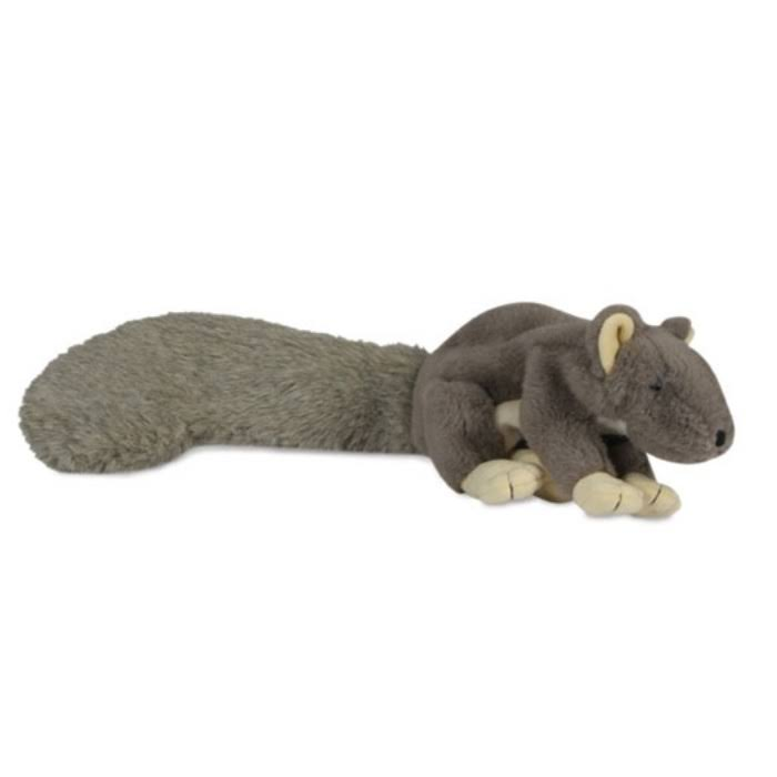 HuggleHounds Plush Durable Squeaky Big Feller Squirrel Dog Toy - X-Large