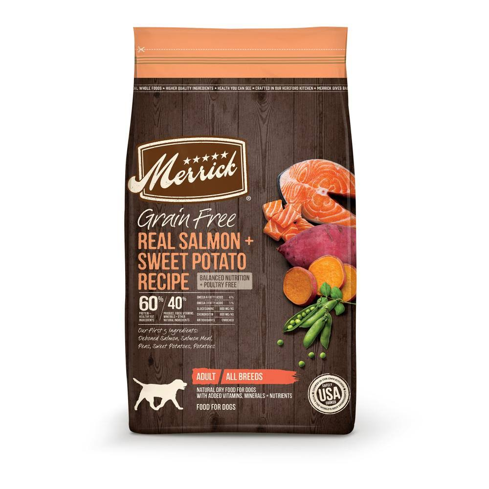 Merrick Grain Free Salmon + Sweet Potato Recipe Dry Dog Food - 4lbs