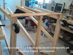 rolling lumber cart youtube