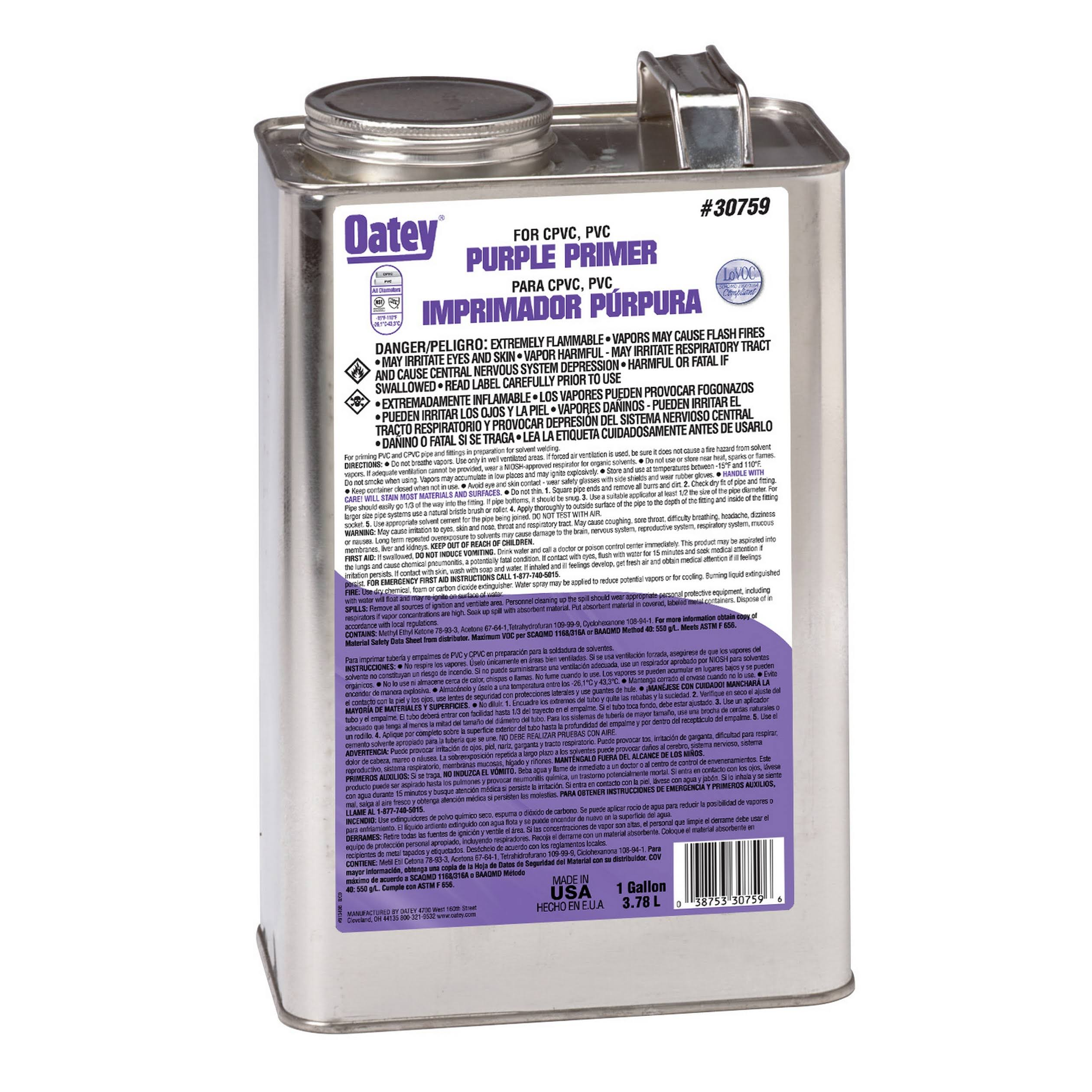 Oatey Primer - Purple, 113ml