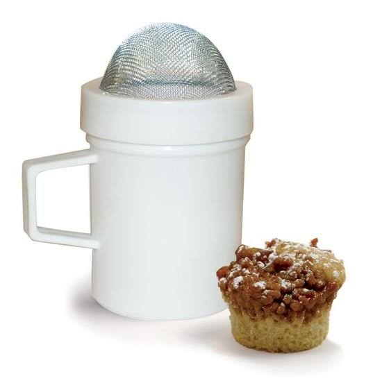 "Norpro Multipurpose Sugar Flour Powdered Sugar Shaker Dust Sifter - 4.25"" Tall"