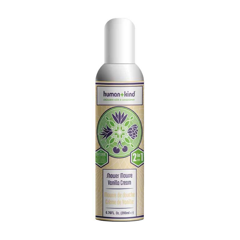 Human and Kind Shower Mousse - Vanilla Cream, 200ml