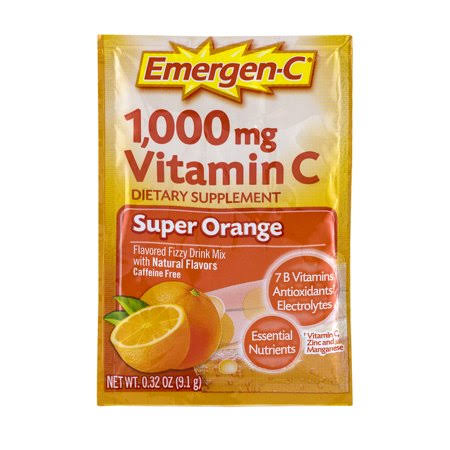 Emergen-C 1000mg Vitamin C Dietary Supplement - Super Orange, 30 Pack