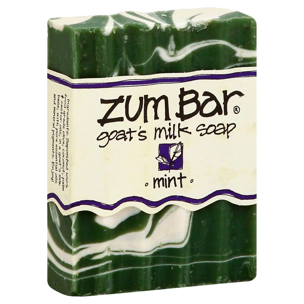 Zum Bar Soap, Goat's Milk, Mint - 3 oz
