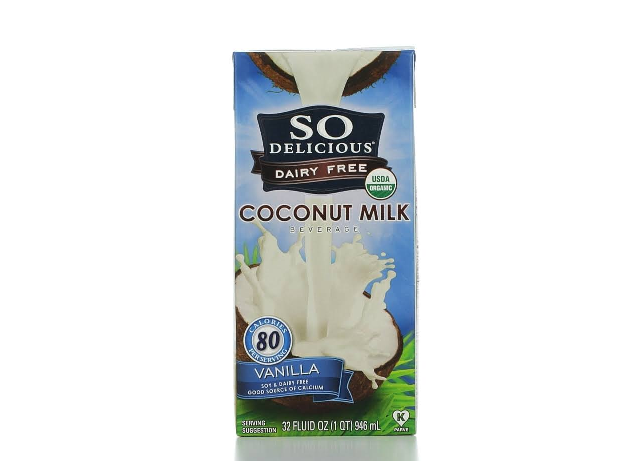 So Delicious Dairy Free Organic Coconut Milk Beverage - Vanilla, 32oz