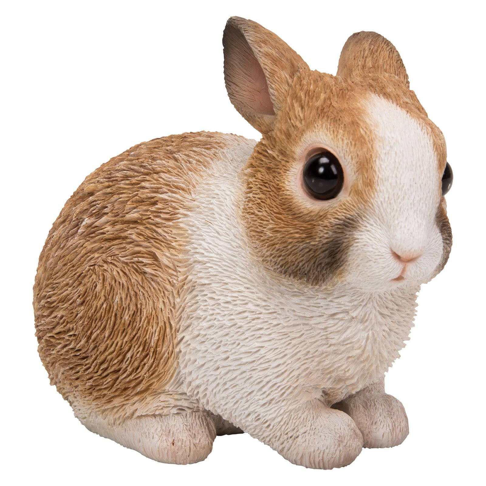 Natures Gallery White and Brown Rabbit Statue, Size: Small