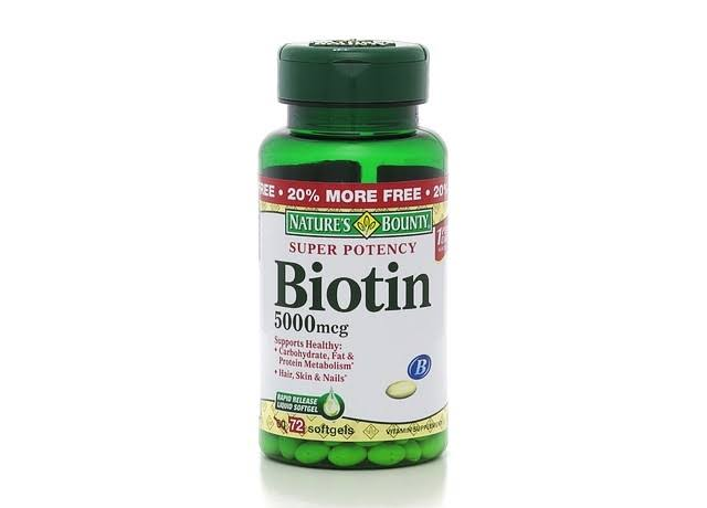 Nature's Bounty Super Potency Biotin Supplement - 5000mcg, 72 Count