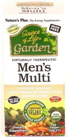 Source of Life Garden Organic Men's Multi Food Vitamin, 90 Tablets