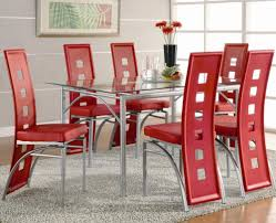 Macys Dining Room Furniture Collection by Contemporary Metal Dinner Table And Red Upholstered Chairs Los