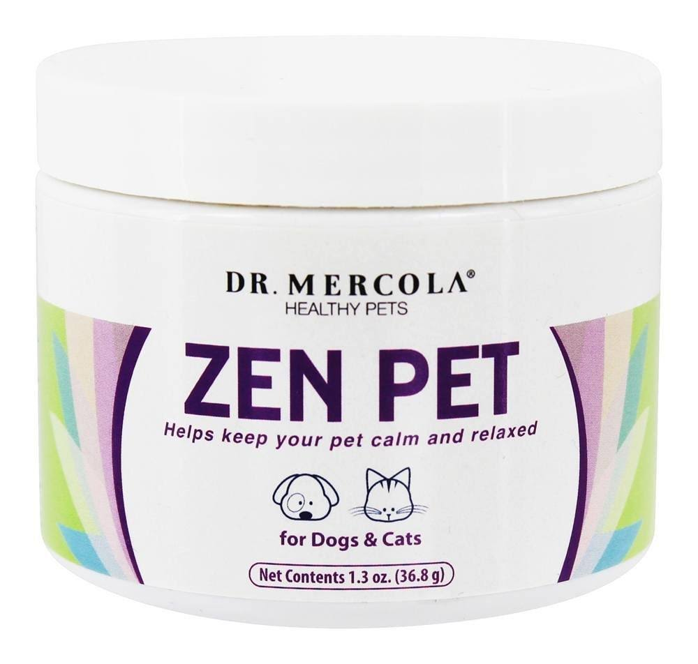 Dr. Mercola Zen Pet Helps Keep Dog and Cat Supplement - 1.3oz