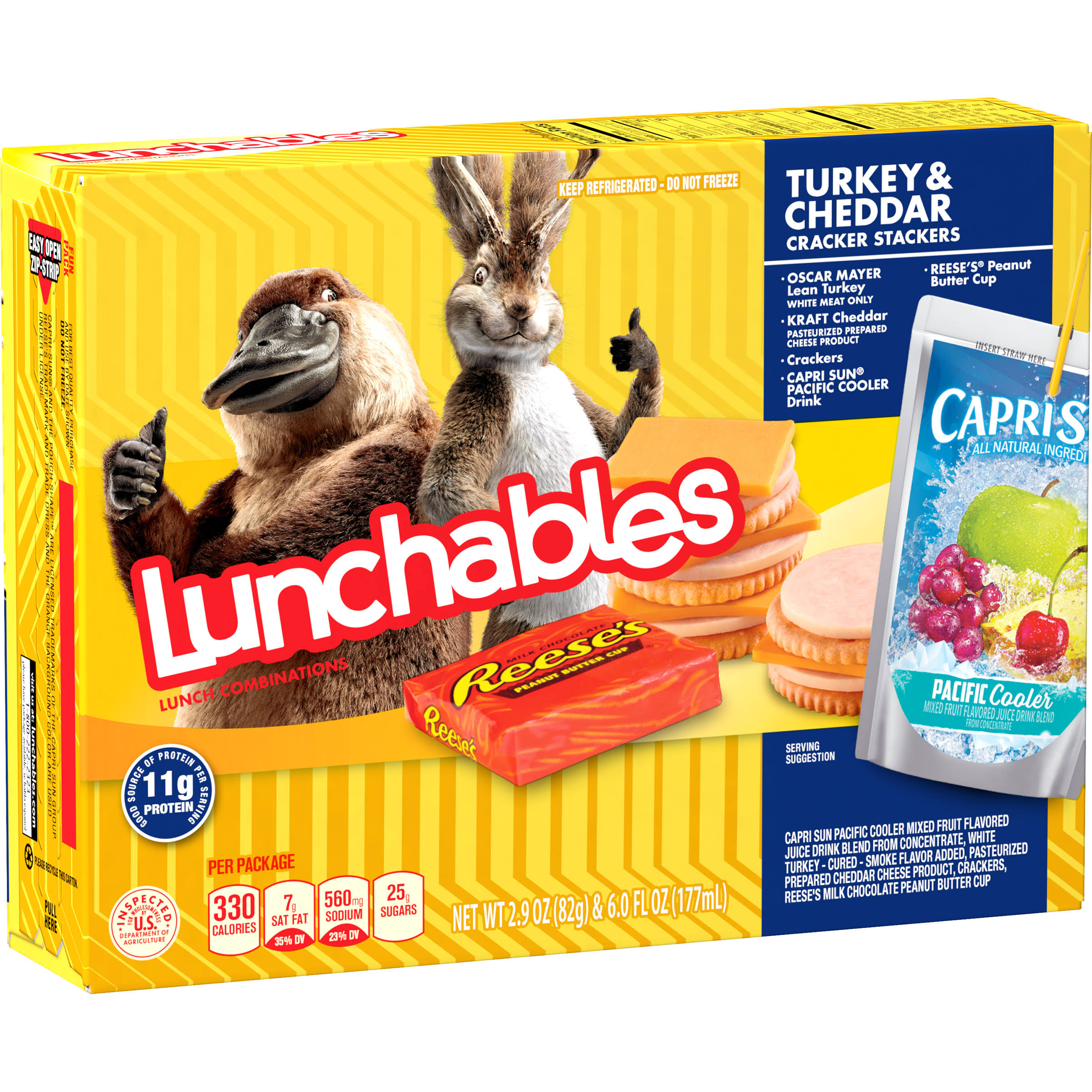 Lunchables Lunch Combinations, Turkey & Cheddar, Cracker Stacker
