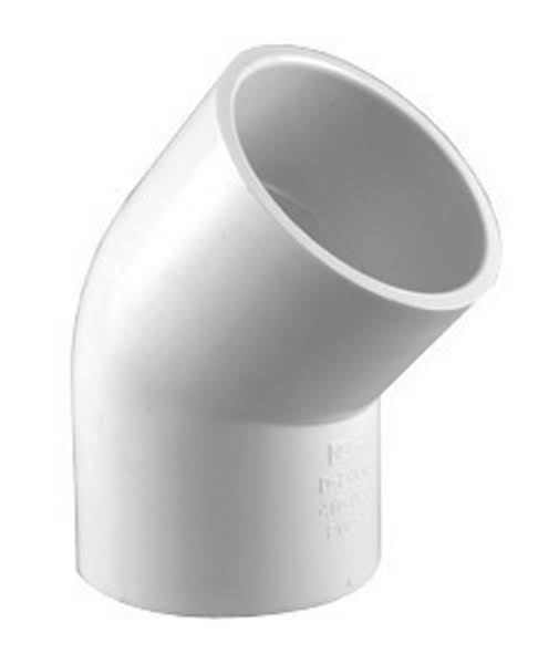 Charlotte Pipe PVC Schedule 40 45-Degree Elbow Pipe - White, 2in